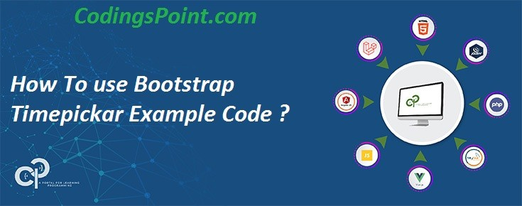 How To use Bootstrap Timepickar Example Code