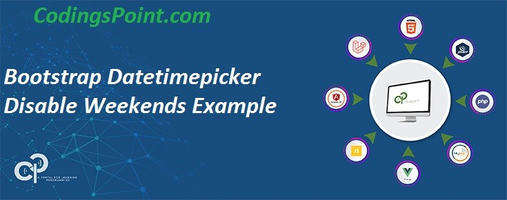 Bootstrap Datetimepicker Disable Weekends Example