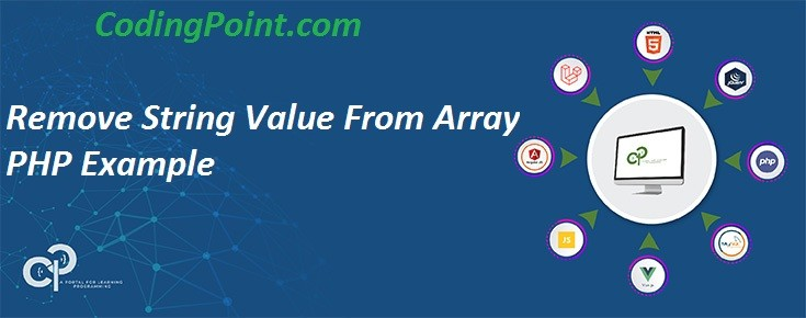 Remove String Value From Array PHP Example