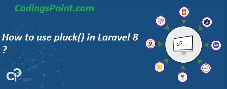 How to use pluck() in Laravel 8